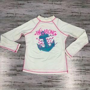 Billabong Girls rashguard swim shirt long sleeve